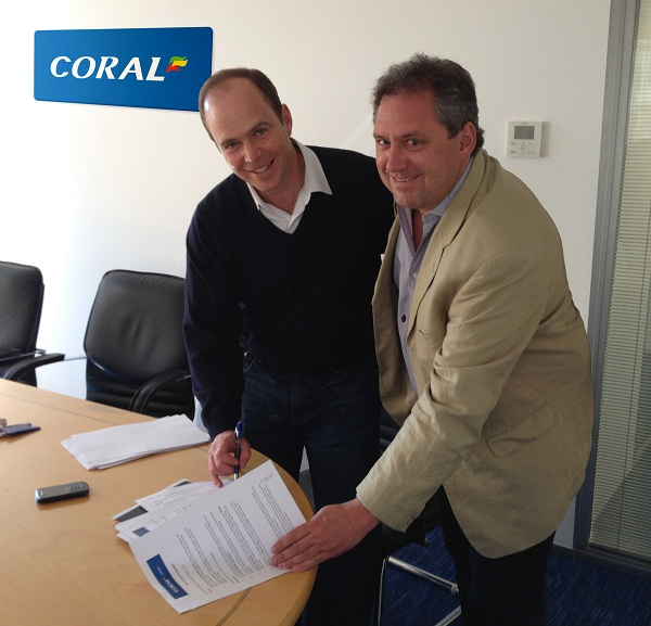 Coral and 2BET2 sign deal